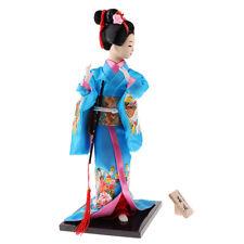 Japanese Yukata Kimono Doll Exquisite 12inch Geisha Doll Gift Desk Accs #2