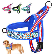 Reflective Adjustable No Pull Dog Harness Front Clip Plush Padded Pet Vest XS-L