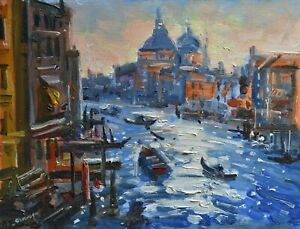 Beautiful Richard Blowey Original Oil Painting - Venice Italy - Impressionist