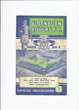 Blackburn Rovers v Burnley 24 January 1959