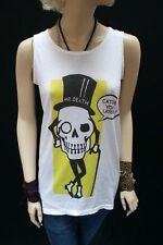 Patternless Skull Sleeveless T-Shirts for Women
