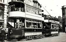 OLD PHOTO England Northamptonshire Northampton trams going to Abington