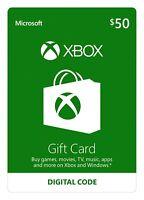 $50 USD XBOX Live card $50 USD - XBOX One & Xbox 360 USA
