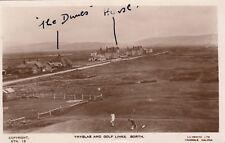 Welsh Real Photo Postcard. Ynyslas & Golf Links, Borth. Lilywhite. c 1920s