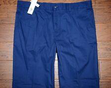 NWT Lacoste Men's Regular Fit Dark Blue Cotton Casual Pants Big & Tall W44 L35