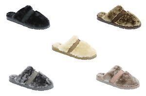 Women's Ella Jenny Warm Faux Fur Lined Memory Foam Mules Slippers
