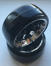 ABSIMA 2510040 1/10 PEIGNE/profil A noir/CHROME ROUE et pneumatique set (4 pcs)