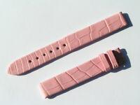 12mm Chopard Uhren Armband Ersatzband Lederarmband Croco Pink 70/105 new C12-04
