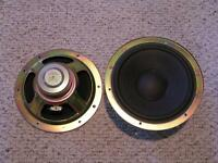 "2 x Vintage 10"" Technics  Woofers Speakers EAS"