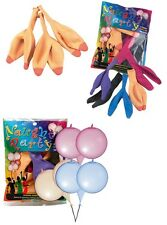 bunte + hautfarbene BUSEN Luftballons gemischt 6er Set als Partygag Feier Fete