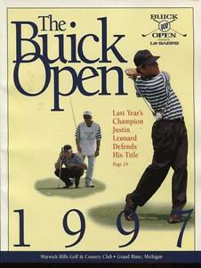 Golf Program Buick Open 1997 Vijay Singh Win Tiger Woods Tournament Version