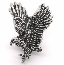 "Eagle in Flight Line 24 Decorative Snap Cap Antique Silver 1-3/8"" 1265-98"