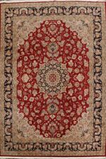 Wool and Silk Red/Navy Aubusson Chinese Oriental Area Rug Traditional Room 9x12