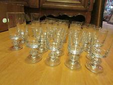 antiguo lote 19 vasos vino y flutes de cristal bayer vintage 1970
