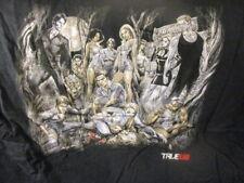 New W/O Tag HBO TRUE BLOOD Animated Cast Photo Black T Shirt XL