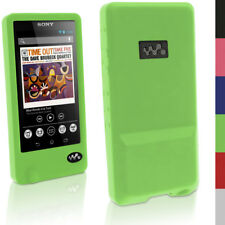 Silicone Gel Skin Case for Sony Walkman NWZ-ZX1 Rubber Cover + Screen Protector