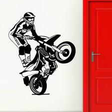 Motorcycle Vinyl Decal Race Extreme Sports Freestyle Wall Stickers Decor Murals