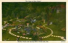 c1930s The Garden, French Lick Springs Hotel, Indiana Postcard