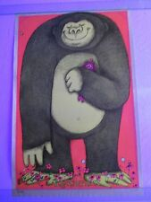 Vintage Blacklight Poster TOGETHERNESS Hippy Gorilla Love Gary Patterson Art