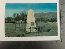 Vintage Postcard International Boundary Monument Mexico- New Mexico- Texas