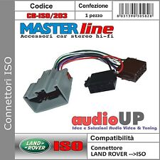 Connettore Autoradio ISO compatibile per Ford Fiesta dal 2009 in poi -masterline