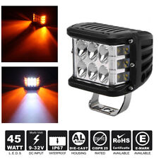 4inch LED Offroad Work Light Combo Beam Beacon White/Amber Driving Flash Light