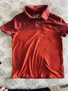 BOYS Youth SMALL YSM UNDER ARMOUR  Polo s/s Shirt Red