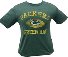 Green Bay Packers Green Youth Vintage NFL Faded Team Logo T-Shirt Size XL