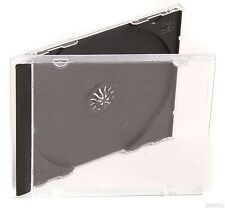 25 x Single CD Jewel Case Cases 10mm 10.4mm Black Tray HIGH QUALITY PLASTIC