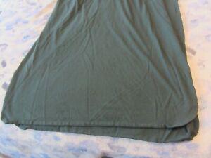 Men NAUTICA Green LONG Nightshirt Short Sleeve, Cotton, Pajamas Comfy Nightwear