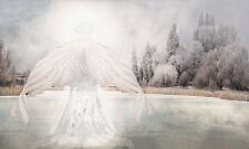 SPIRITUAL GUARDIAN ANGEL ART PRINT CALLED I AM PEACEFUL 15x9 poster