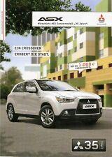Prospekt / Brochure Mitsubishi ASX Sondermodell 35 Jahre 01/2012