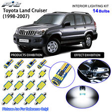 14 Bulbs Cool White LED Interior Light Kit For 1998-2007 Toyota Land Cruiser
