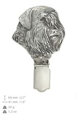 Bouvier, silver covered clipring, number holder, high qauality Art Dog Us