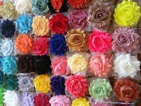 """2.5"""" shabby flower trim grab bag 200 pcs SOLID,wholesale shabby  flower trim"""