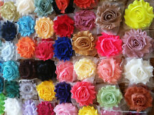 "2.5"" shabby flower trim grab bag 200 pcs SOLID,wholesale shabby  flower trim"