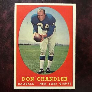 1958 Topps Set DON CHANDLER #54 N.Y. GIANTS FLORIDA - EX-MINT *HIGH GRADE*