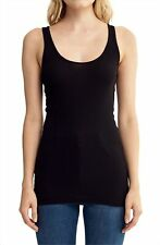 LAMADE 176069 Women's Double-U Neck Tank Top Black Size Small