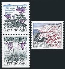 Sweden 1762-1764, MNH. Nature conservation. Flowers, Birds, Coastline, 1989