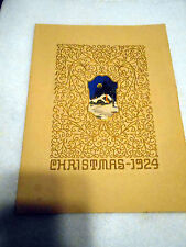 RARE Antique 1924 Christmas Card Dodge Brothers George Tator Car Auto Dealer NY