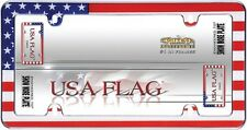 USA AMERICAN FLAG CHROME LICENSE PLATE FRAME CAR /AUTO/TRUCK TAG COVER / HOLDER