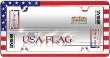 USA AMERICAN FLAG CHROME LICENSE PLATE FRAME CAR /AUTO/TRUCK TAG COVER / HOLDER