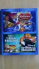 Disney Oliver & Company, Fox & The Hound, Fox & The Hound II Blu-Ray+DVD 3 movie