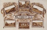 POSTCARD    HAMPSHIRE   MILFORD  on  SEA    Greeetings     Circa  1917