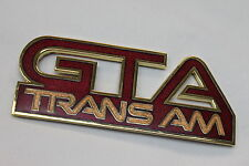 87-90 Trans Am GTA Flame Red Front Fender Emblem New