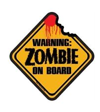 Zombie on board air freshner  Funny Sign Prank