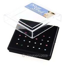 24pcs Mix body jewelry nosepiercing nose piercing Nose Studs Nail Puncture LT