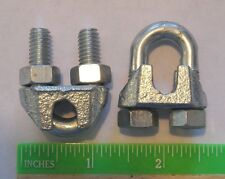 "Cable Clamps U-Bolts 25pk 1/4"" Clamps Steel Aircraft Cable Wire Clip U Bolt"
