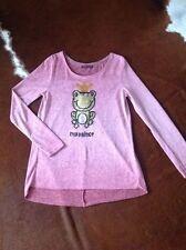 Pullover,Damenlangarm,rose,pallietten,grösse L