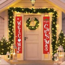 Merry Christmas Banner Outdoor Decoration Home Hanging Sign Pendants 2020 Xmas